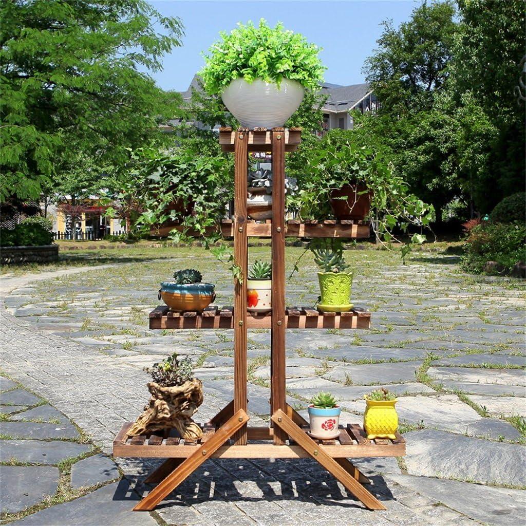 AIDELAI Aiilai - Estantería de Flores de Madera con múltiples Capas para balcón, Oficina, Maceta (4 Capas), Patio, jardín, pergolas: Amazon.es: Jardín