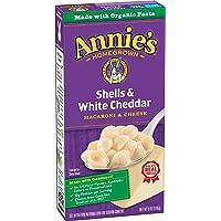Annie's Macaroni and Cheese, Shells & White Cheddar, 6 oz. Box