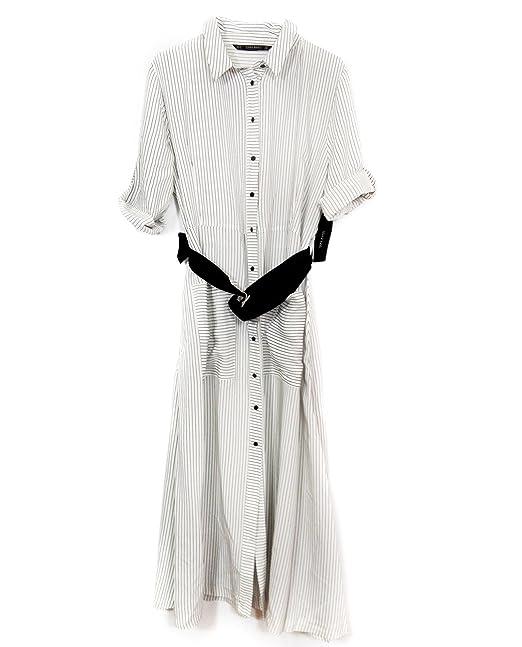 c085347b Zara Women Long striped tunic 3564/164 (X-Large): Amazon.ca ...