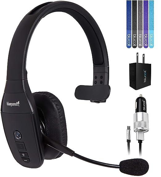 3438533472f VXI BlueParrott B450-XT Noise Canceling Bluetooth Headset Bundle with USB  Charging Cable, Blucoil