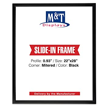 Amazoncom Slide In Frame 22 X 28 Inch Poster Size 093 Aluminum