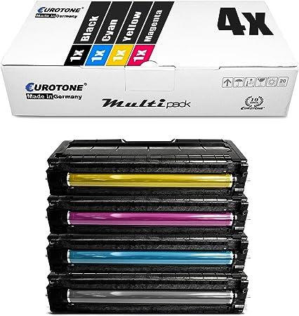 4x Eurotone Toner Für Ricoh Aficio Sp C 250 Sf Sfw E Dn Ersetzt Bürobedarf Schreibwaren