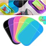6 Pieces Anti-Slip Tools Sticky Mat for Diamond Painting Sticky Gel Pad Non-Slip Universal Mount Holder 5.6 x 3.3 Inch for Ho