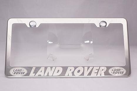 Amazon.com: Land Rover Laser Engraved Chrome License Plate Frame ...