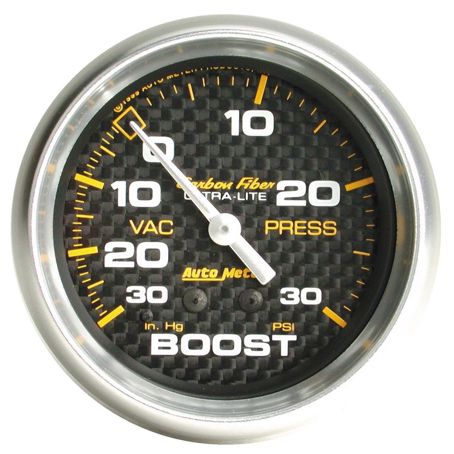 Auto Meter 4803 Carbon Fiber Mechanical Boost/Vacuum Gauge by AUTO METER
