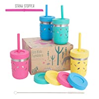 Elk and Friends Stainless Steel Cups | Mason Jar 10oz | Kids & Toddler Cups with...