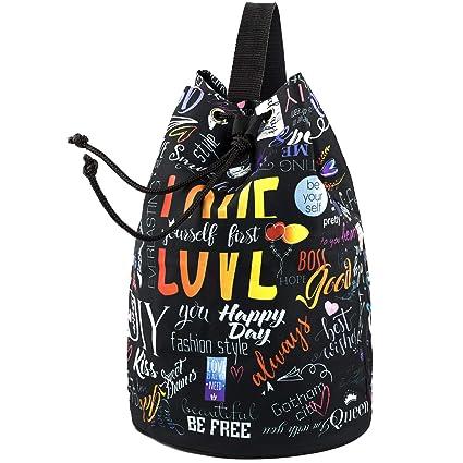 Drawstring Backpack Stylish Printed Design - Unisex Drawstring Bag - One  Shoulder String Backpack - Large 802d494a9