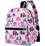 Lightweight Canvas Backpack for Women Teens and Kids (Elephant Pink Small V2)