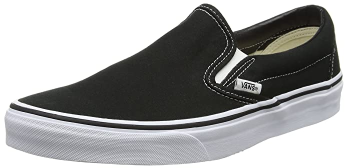 Vans Classic Slip-on Canvas Low-Top Unisex-Erwachsene Schwarz