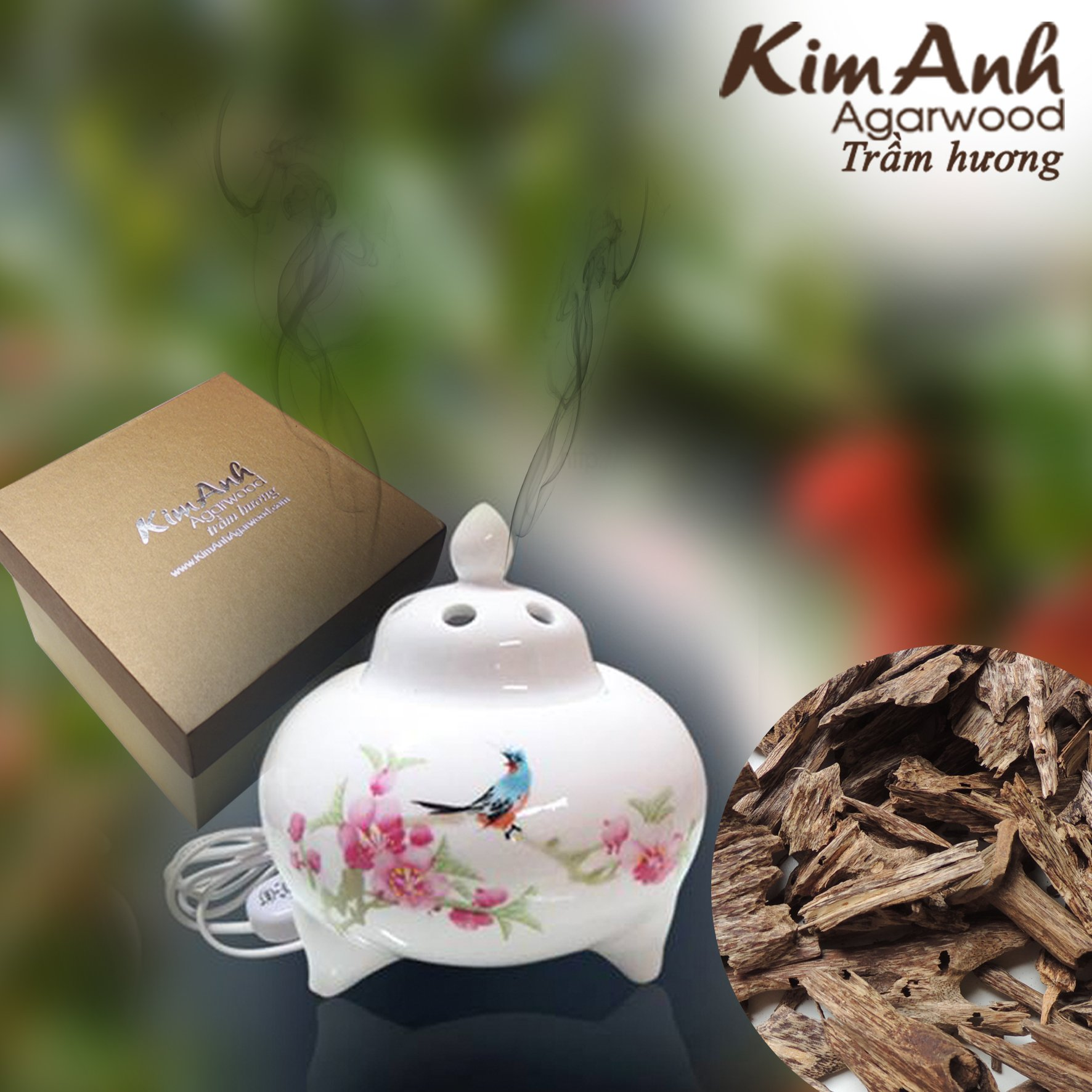 Kim Anh Agarwood chips - Vietnam natural agarwood chips - Pure high quality Agarwood Aloeswood chips - Oud wood chips - Oudh chips for - charcoal or electric incense burner- 30g by Kim Anh Agarwood (Image #2)