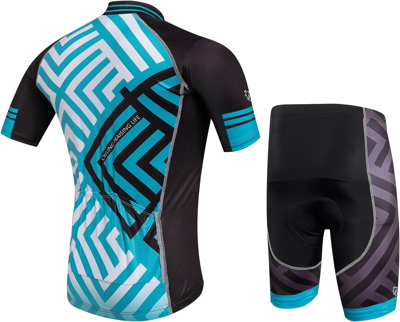 Ropa Ciclismo Verano para Hombre y Mujer Cornasee Conjunto de Ciclismo Maillot y Gel Pantalones Cortos