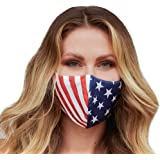 Washable Face Mask with Adjustable Ear Loops & Nose Wire - 3 Layers, 100% Cotton Inner Layer - Cloth Reusable Face Protection