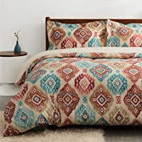 Bedsure Printed Duvet Cover Set with Zipper Closure, Ultra Soft Hypoallergenic Comforter Cover