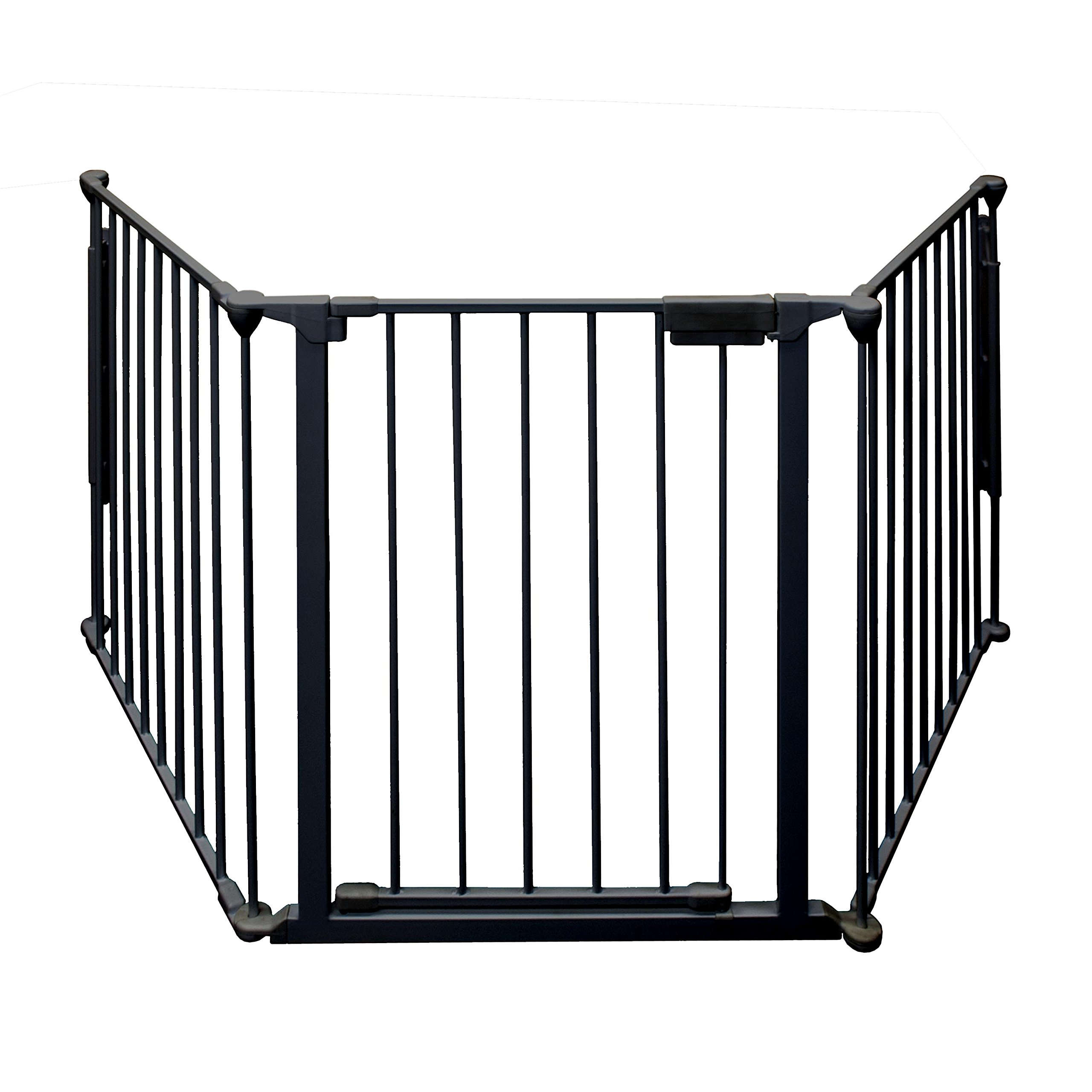 ALEKO SG03BK Fireplace Fire Gate Safety Fence Cover Child Safety Gate, 77 Inches Black