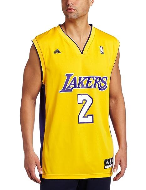 premium selection 20577 4d989 Amazon.com : Los Angeles Lakers Derek Fisher Men's Gold NBA ...