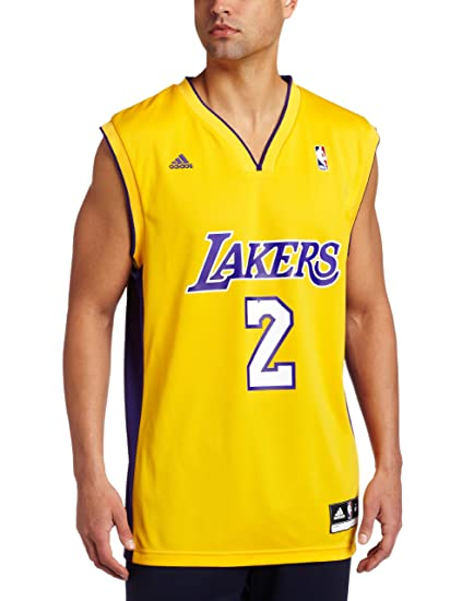 9d45664f4244 Amazon.com   Los Angeles Lakers Derek Fisher Men s Gold NBA Replica ...