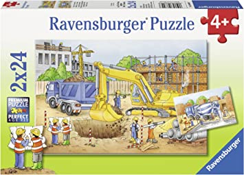 Ravensburger Puzzles Construction Site, Multi Color (2 x 24 Pieces)