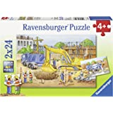 "Ravensburger 08899 Lot de 2 puzzles Motif ""attention travaux"" 24 pièces par puzzle"