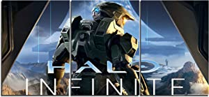 Halo Infinite Game Canvas Posters Home Decor Wall Art Framework 3 Pieces Paintings for Living Room HD Prints Pictures (L,No Framed)