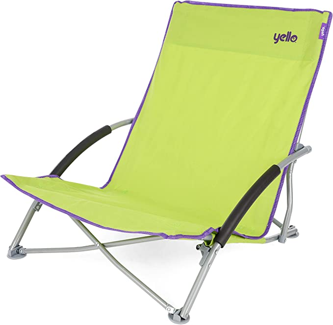 Yello Low Folding Beach Collapsible Outdoor Picnic Camping Chair With Carry Bag Green 64 X 57 X 65 Cm Amazon Co Uk Sports Outdoors