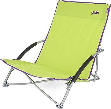 Yello - Silla Plegable de Playa, Unisex, Low Beach, Verde: Amazon ...