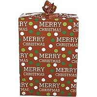 American Greetings Merry Christmas Dots Jumbo Plastic Gift Bag