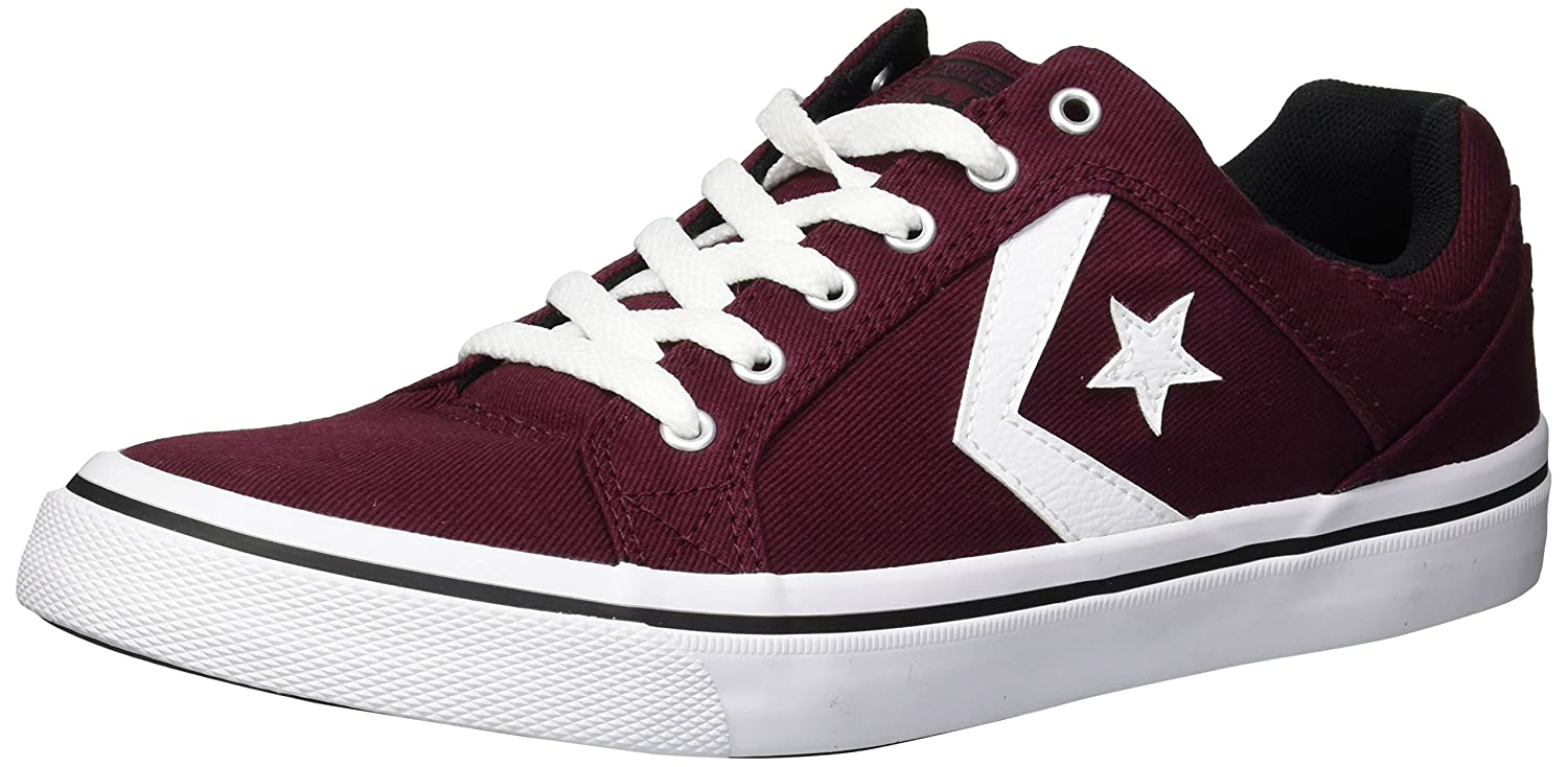 Converse Men's El Distrito Twill Low Top Sneaker B0767R5TBH 8.5 M US|Deep Bordeaux/White/Black