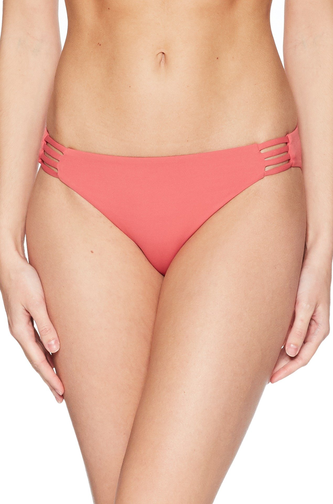 Roxy Women's Solid Softly Love 70s Bikini Bottom, Holly Berry, S