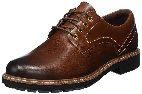 Batcombe Hall, Zapatos de Cordones Derby Para Hombre, Marrón (Dark Tan Lea-), 41.5 EU Clarks