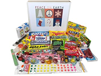 woodstock candy christmas holiday retro nostalgic candy gift box peace on earth - Candy Christmas Gifts