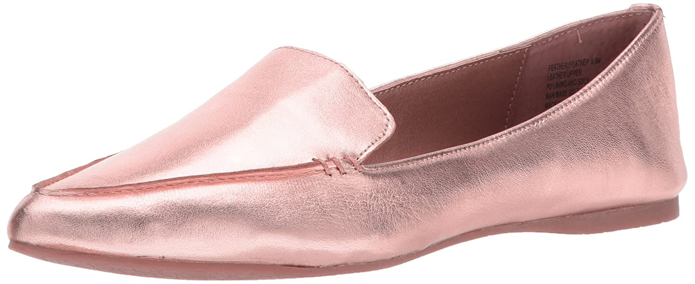Steve Madden Women's Feather Loafer Flat B073H9N92Z 10 B(M) US|Rose Gold