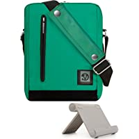 "Vangoddy Charcoal Anti-Robo Vertical Crossbody Bolsa de Hombro Mensajero para Apple iPad 9.7"", iPad Pro 10.5"" & 9.7"", iPad Mini 7.9"" + Tablet Stand"