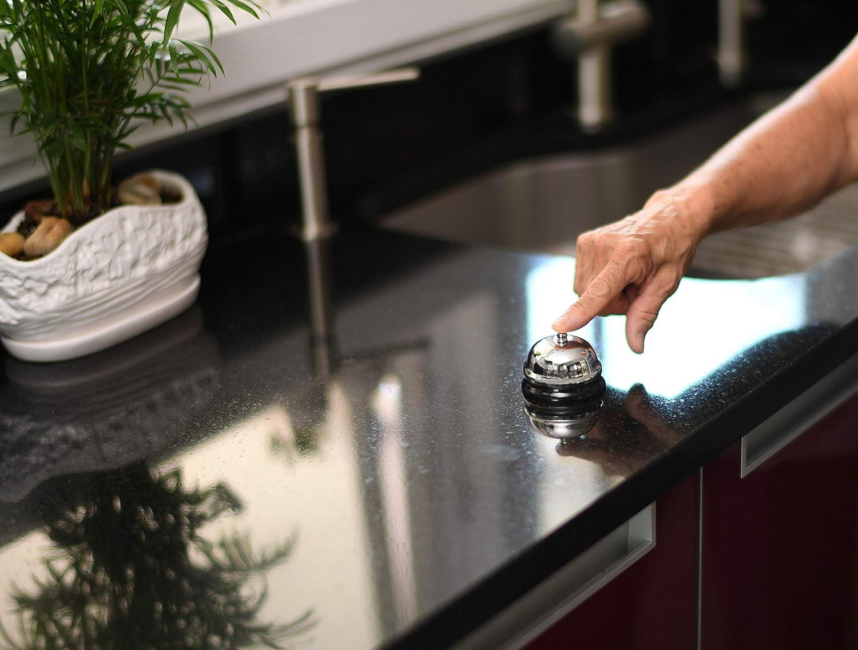 Lissek Table Sonnette de r/éception des Sonnette en acier inoxydable