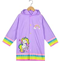 Puddle Play Little Boys and Girls Rain Slicker Outwear Hooded Fun Colors and Designs - Toddler and Little Kid