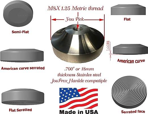 "Diameter Baristar Aluminum Steel Espresso Coffee Tamper Flat Base 52mm//2/"""