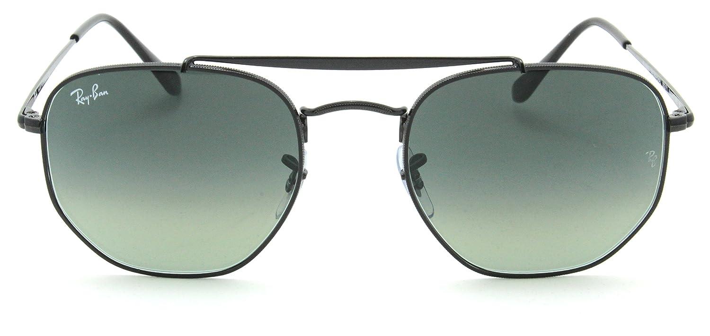 114ffbc3b1 Amazon.com  Ray-Ban RB3648 Marshal Gradient Metal Sunglasses Black 002 71 -  54  Clothing