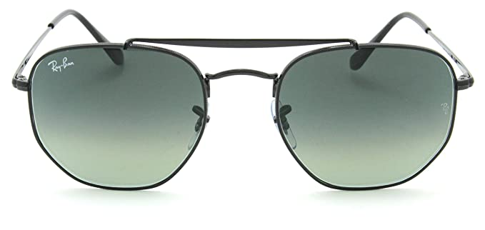 f9a2dae8b7 Image Unavailable. Image not available for. Color  Ray-Ban RB3648 Marshal  Gradient Metal Sunglasses Black 002 71 ...
