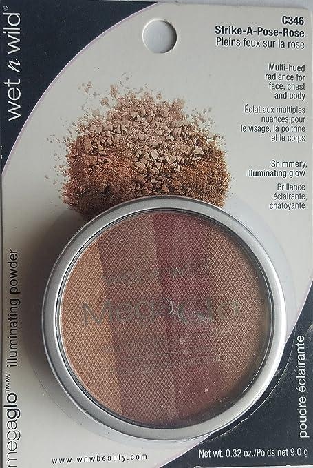Amazon.com : Wet N Wild Megaglo Shimmery Illuminating Powder C346 Strike-a-pose-rose 0.32 oz : Beauty