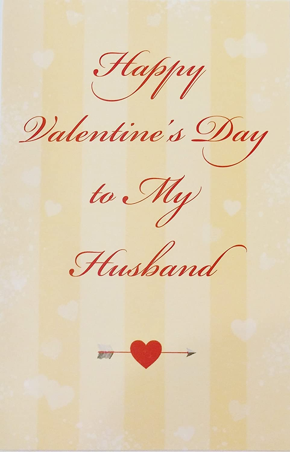 Amazon Happy Valentines Day To My Husband Greeting Card