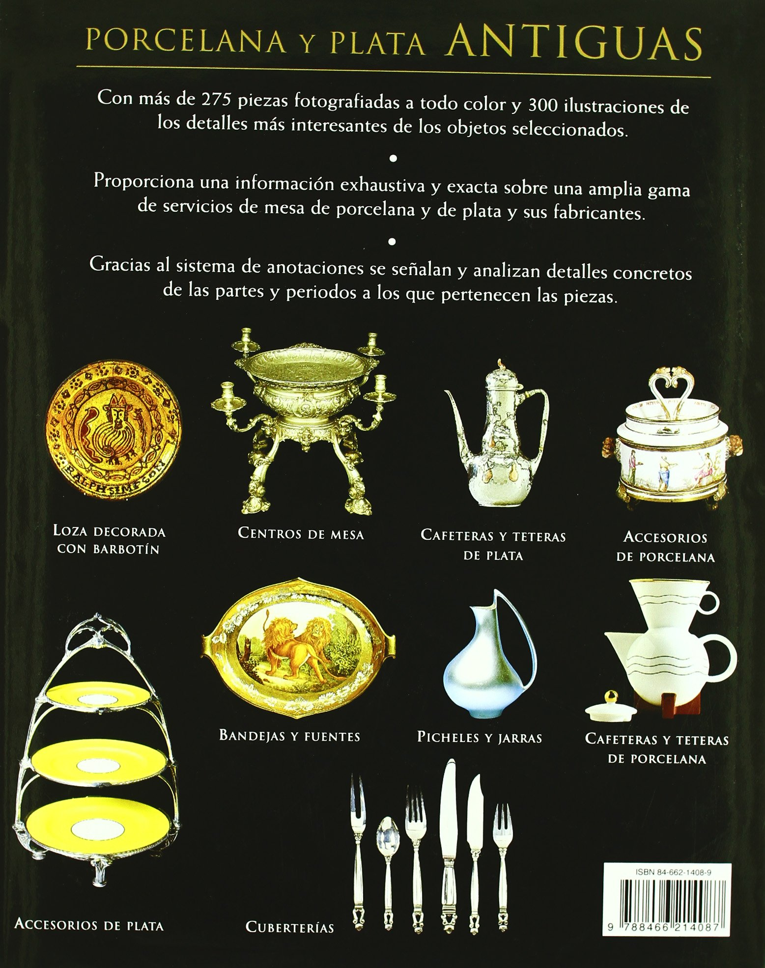Porcelana y plata antiguas / The Guide to Antique China & Silver: Guía ilustrada de los servicios de mesa para identificar estilos, detalles y diseño .