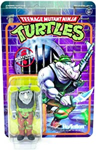 Super7 Rocksteady TMNT Teenage Mutant Ninja Turtles Reaction Action Figure