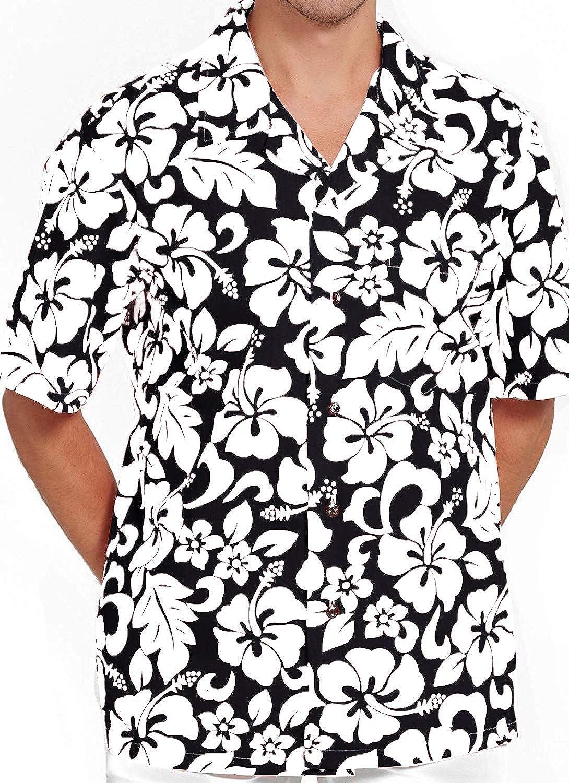 5273379f Amazon.com: M&B USA Men's Hawaiian Shirt Button Down Casual Aloha Short  Sleeve Beach: Clothing