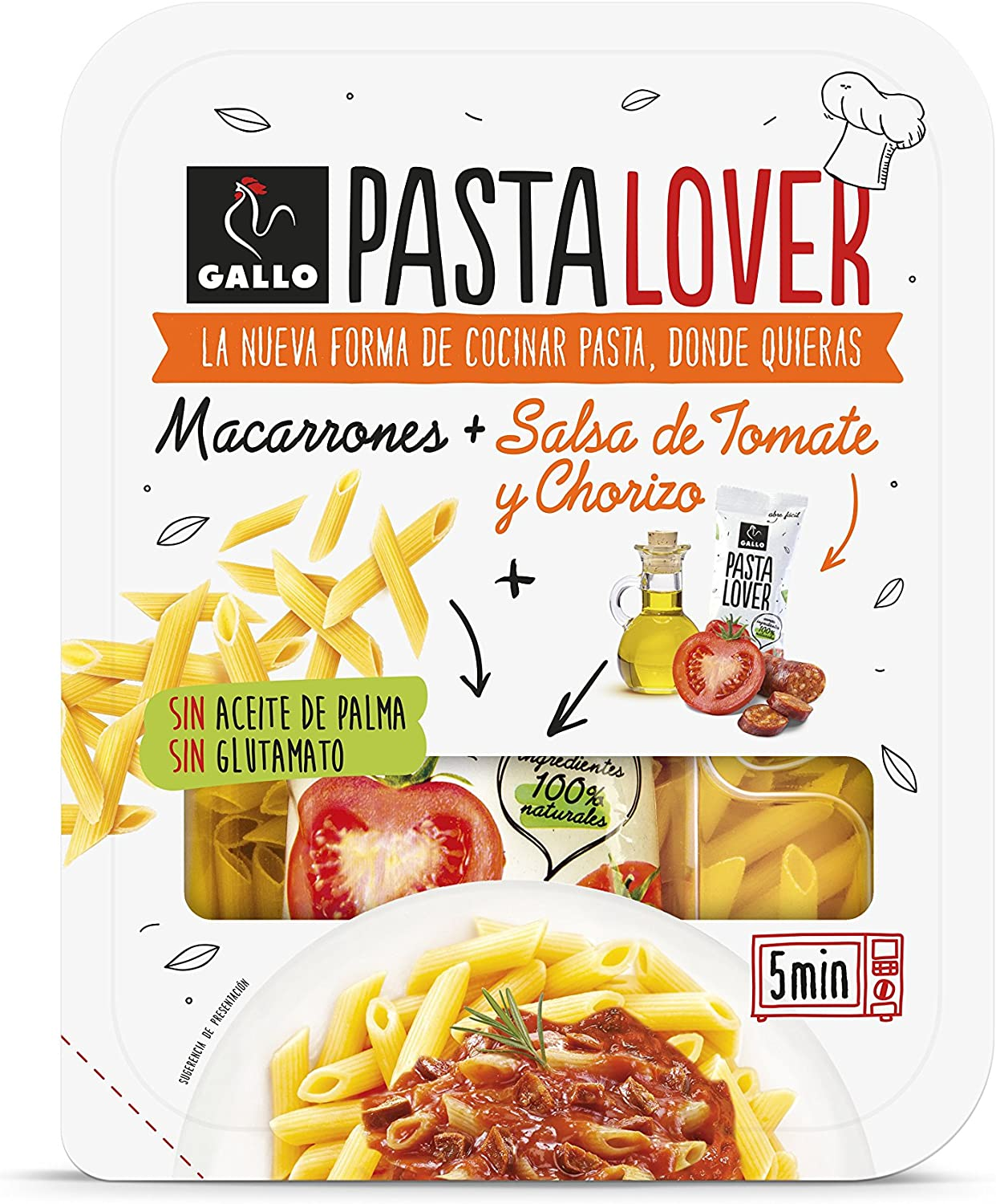 Gallo Pastalover Macarrones Chorizo - 200g: Amazon.es ...