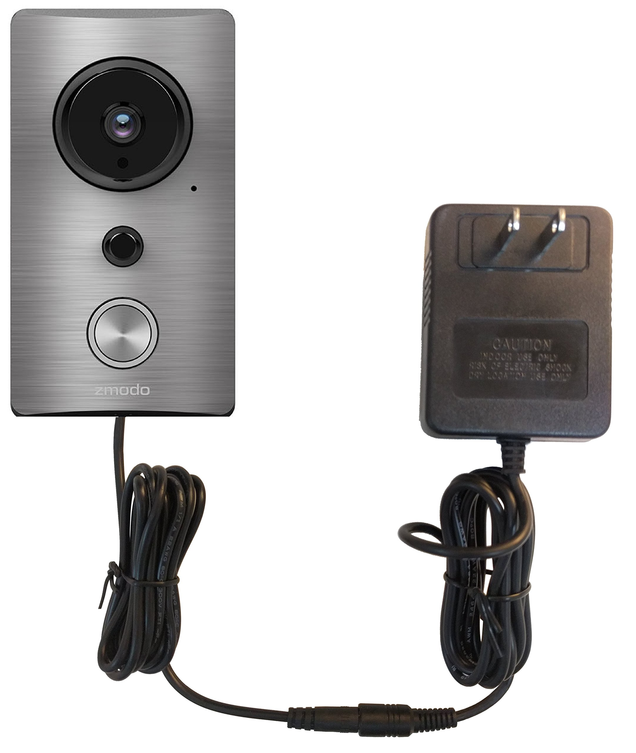 OhmKat Video Doorbell Power Supply - Compatible with Zmodo Greet - Needs No Existing Wiring - Transformer, Adapter, Power Kit & Supply All In One