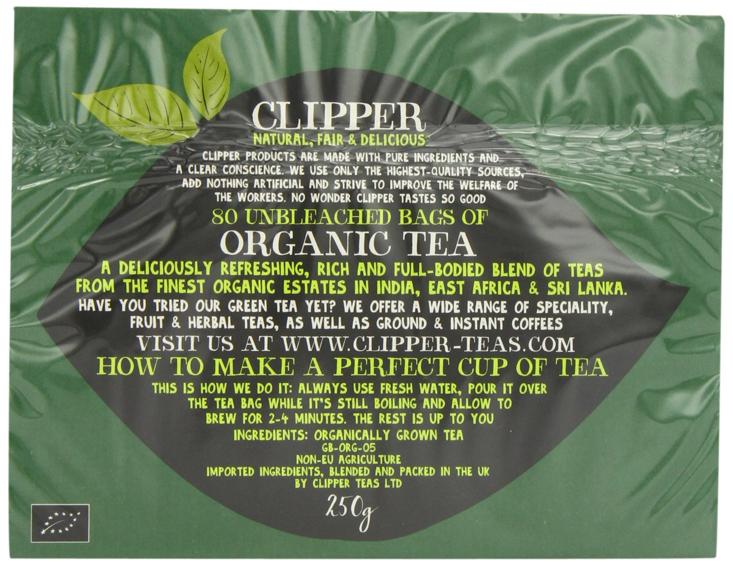 Clipper Teas - Everydays - Organic Tea - 80 Bags (Case of 6) by Clipper Tea (Image #3)