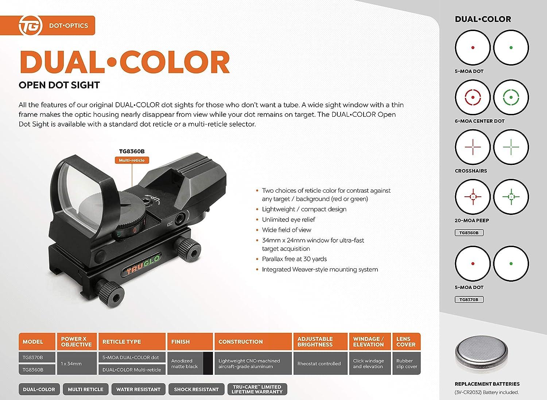 Amazon.com : TRUGLO Open Red-Dot Sight Dual-Color Black : Sports ...