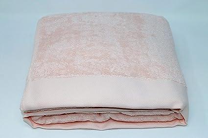 01e43f8b16 Telo Bagno in Pura Spugna idrofila 600 gr. mq Somma Art. Origami con Bordo  Jacquard Misura cm. 100x160 (Rosa incanto 113): Amazon.it: Casa e cucina