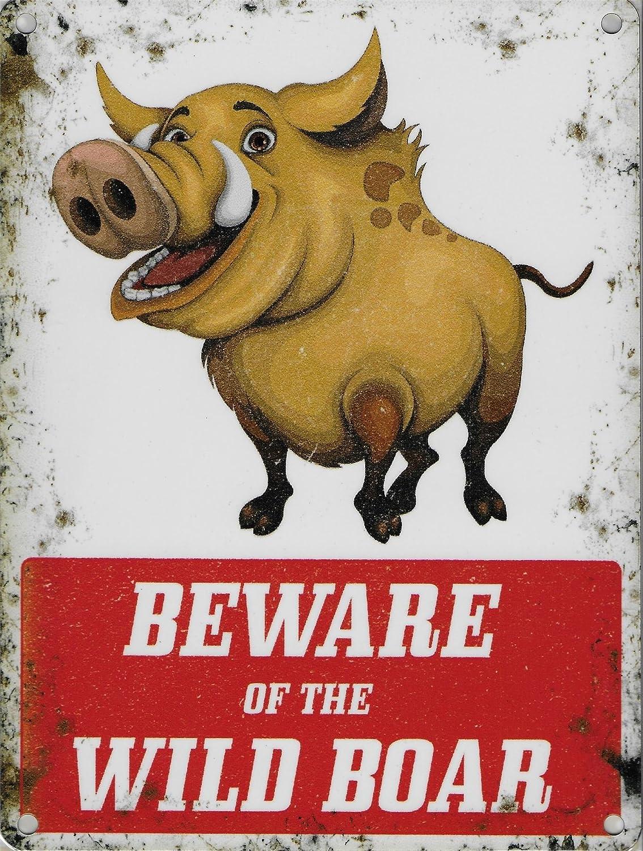 Beware of the Pancarte de sanglier 15/x 20/cm en m/étal avertissement plaque murale