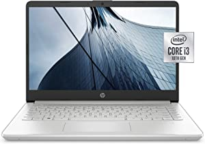 HP 14-inch Laptop, Intel Core i3-1005G1, 4 GB RAM, 128 GB SSD Storage, Windows 10 Home in S Mode (14-dq1020nr, Natural Silver)