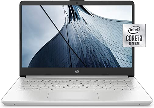 Amazon Com Hp 14 Inch Laptop Intel Core I3 1005g1 4 Gb Ram 128 Gb Ssd Storage Windows 10 Home In S Mode 14 Dq1020nr Natural Silver Computers Accessories